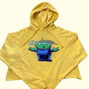 Disney Toy Story Aliens Crop Hoodie EUC